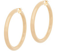Bronzo Italia Polished 2 Hoop Bronze Earrings - J357867