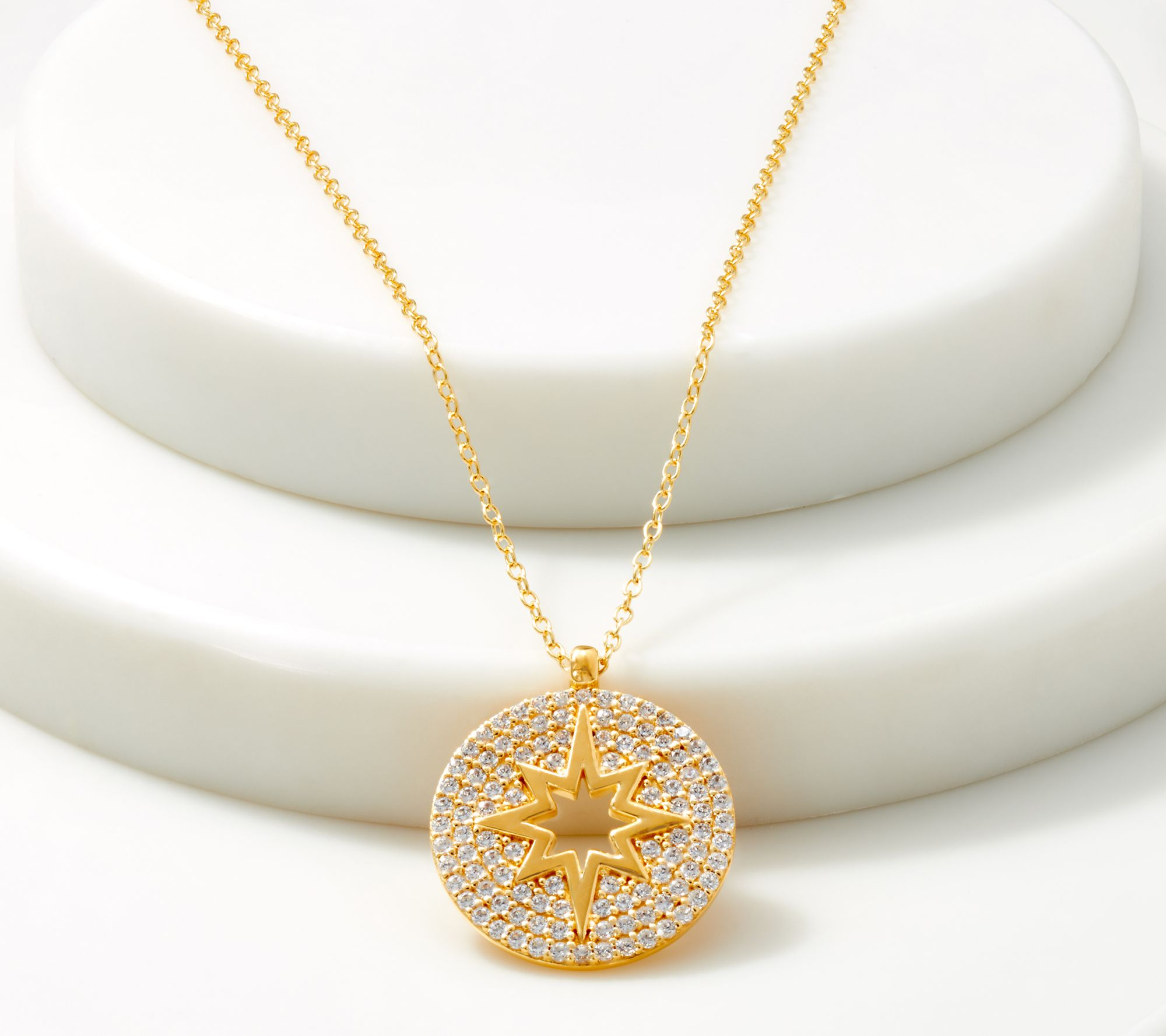 On Trend 18K Rose Gold Plated Cubic Zirconia Linear Bar Sweater Necklace