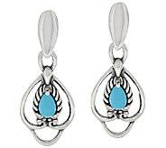 Carolyn Pollack Sterling Sleeping Beauty Turquoise Earrings - J384967