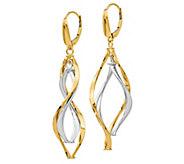 Italian Gold Two-Tone Twisted Dangle Earrings,14K - J385567