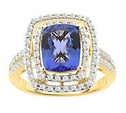 14K 2.15 cttw Tanzanite & 1/3 cttw Diamond Double Halo Ring - J385667