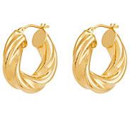 EternaGold Round Twisted Hoop Earrings 14K Gold - J389667
