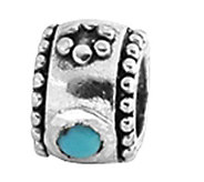 Prerogatives Sterling Turquoise Cubic ZirconiaBead - J108968