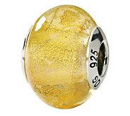Prerogatives Sterling Yellow Italian Murano Glass Bead - J111568