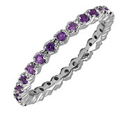 Simply Stacks Sterling Prong Amethyst EternityStackable Ring - J298668
