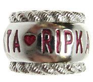 Judith Ripka Sterling Red Enamel Ripkanista Charm - J307168