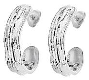 Hagit Sterling Sculpted Half Hoop Earrings - J316868