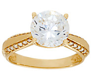 Diamonique 3.00ct Solitaire Ring, 14K Gold - J325068