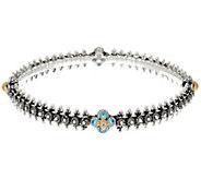 Barbara Bixby Sterling 1.50 cttw Gemstone Eastern Chain Bangle Bracelet - J329268