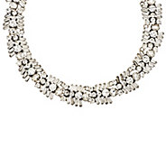 As Is Joan Rivers Crystal Baguette 18 Collar Necklace - J332568
