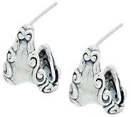 Carolyn Pollack Sterling Silver Signature Hoop Earrings - J335568