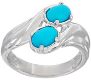 Sleeping Beauty Turquoise Bypass Sterling Silver Ring - J347768