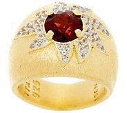 As Is Genesi 18K Clad Gemstone Cocktail Ring - J347968