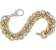 Judith Ripka Verona Two-tone Textured Bracelet 40.0g - J354968