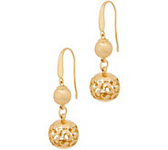 Arte d Oro Satin & Polished Filigree Bead Earrings, 18K - J357268