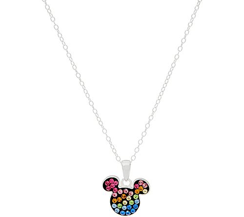 As Is Mickey's 90th Birthday Rainbow Pendant, Sterling Silver