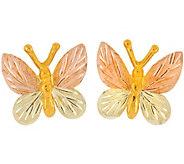 Black Hills Butterfly Earrings, 10K/12K Gold - J377068