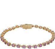 Judith Ripka 14K 4.60ct Pink Sapphire Diamond 8 Bracelet - J381168