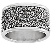 Italian Silver Wire Wrapped Cigar Band Ring - J382768