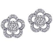 Affinity 14K 1/2 cttw Diamond Floral Stud Earrings - J383668