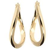 Veronese 18K Clad 1 Round Wavy Hoop Earrings - J390868