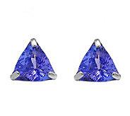 14K White Gold 1.25 cttw Tanzanite Earrings - J392168
