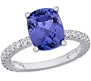 14K 2.75 cttw Tanzanite & 4/10 cttw Diamond Cocktail Ring - J392368