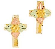 Black Hills Cross Post Earrings, 10K/12K Gold - J392468