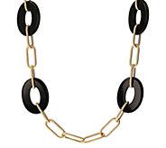 Arte d Oro Gemstone Station 30 Necklace, 18KGold - J392568