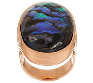 Honora Abalone Bold Doublet Bronze Ring - J284969