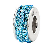 Prerogatives Sky Blue Double Row Swarovski Crystal Bead - J299569