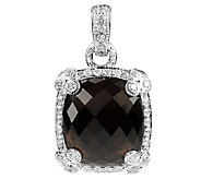 Judith Ripka Sterling Smoky Quartz Enhancer - J336369