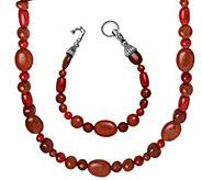 Carolyn Pollack Color Connections Necklace & Bracelet Set - J342869
