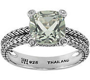 Sterling Gemstone and White Topaz Accent Ring - J344969