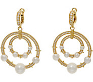 Judith Ripka 14K Clad Cultured Freshwater Pearl Earrings - J349769