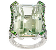 Emerald Cut Bold Statement Ring, 20.00 cttw, Sterling Silver - J356669