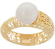 Italian Gold Cultured Pearl Ring, 14K Gold - J357569