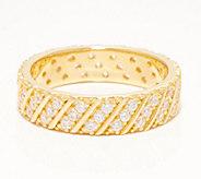 Diamonique Slant Design Eternity Band Ring, Sterling or 14K Clad - J361269
