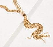 Joan Rivers Barrel Accented 24 Tassel Necklace - J366469