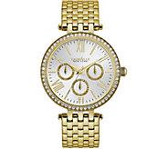 Caravelle New York Womens Goldtone Crystal Watch - J375969