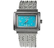 Ecclissi Sterling Multi-Chain Gemstone Watch - J384169