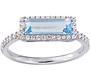 Sterling Silver 1.90 cttw Blue Topaz & White Sapphire Ring - J385269