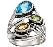 Hagit Sterling Pear-Shaped 3.65 cttw Multi-Gemstone Ring - J386669