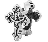 Prerogatives Sterling Silver Crucifix Bead - J110070