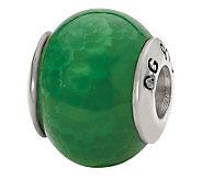 Prerogatives Sterling Green Crackle Agate Gemstone Bead - J298170