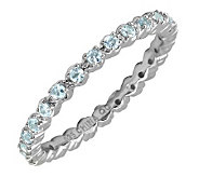 Simply Stacks Sterling Prong Set Aquamarine Stackable Ring - J298670