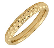 Simply Stacks Sterling 18K YellowGold-Plated Dimple 3.25mmRing - J298970