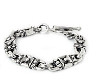 Novica Artisan Crafted Sterling Lock and KeyLink Bracelet - J307670