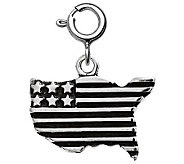 Sterling USA Flag Charm - J311170