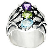 Or Paz Sterling Silver 1.80 Ct. Multi-Gemstone Ring - J333070
